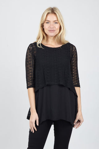Curve Zip Neck Tunic Top