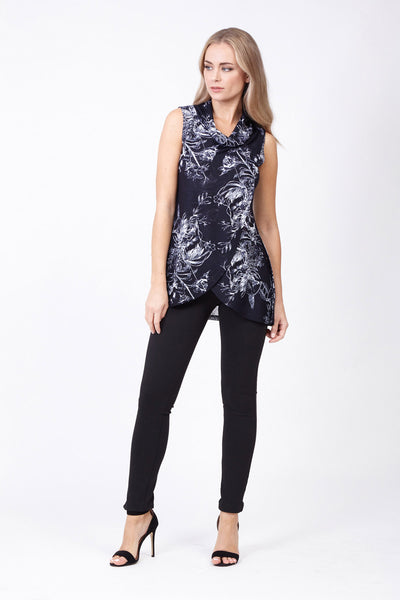 Floral Burst Tunic Top - Izabel London