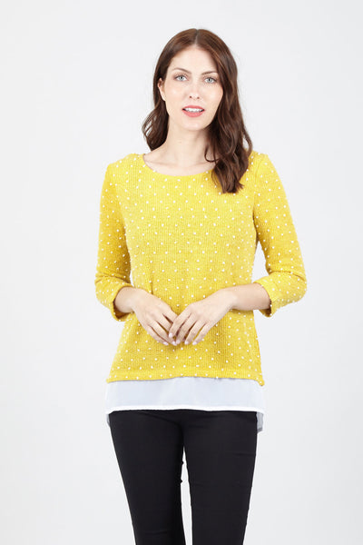 Polka Dot Layered Top - Izabel London