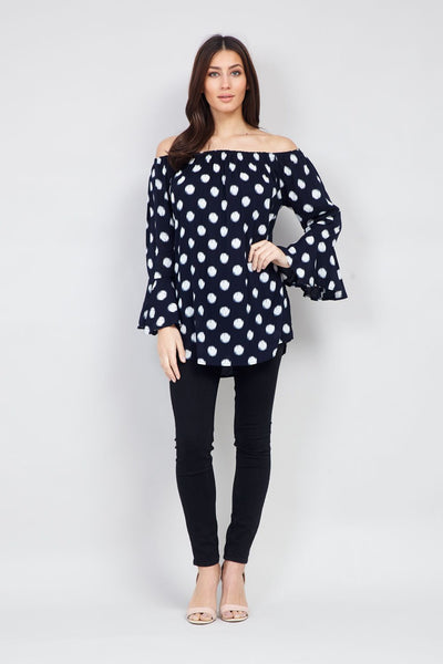 | Polka Dot Bardot top | Izabel London