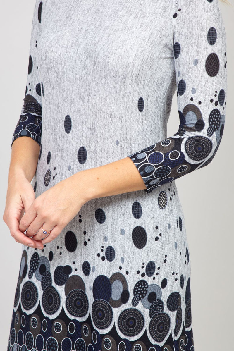 Grey | Abstract Printed Longline Top