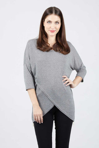 Denim Tencel Tunic Top