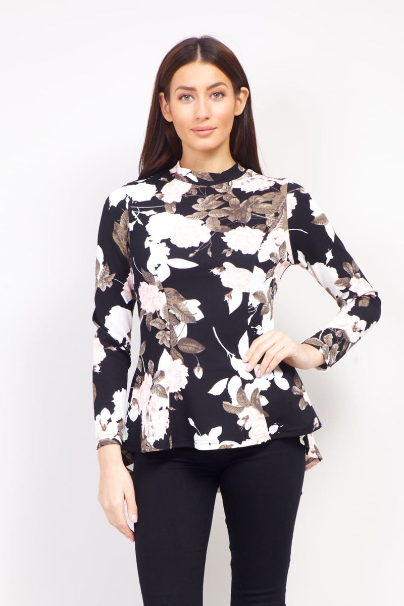 a86c3246d83b7 Floral High Neck Blouse – Izabel London