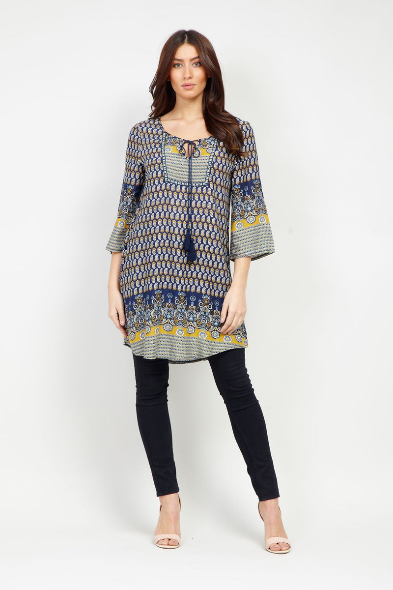 00a140c768c Eastern Print Tunic Top - Izabel London