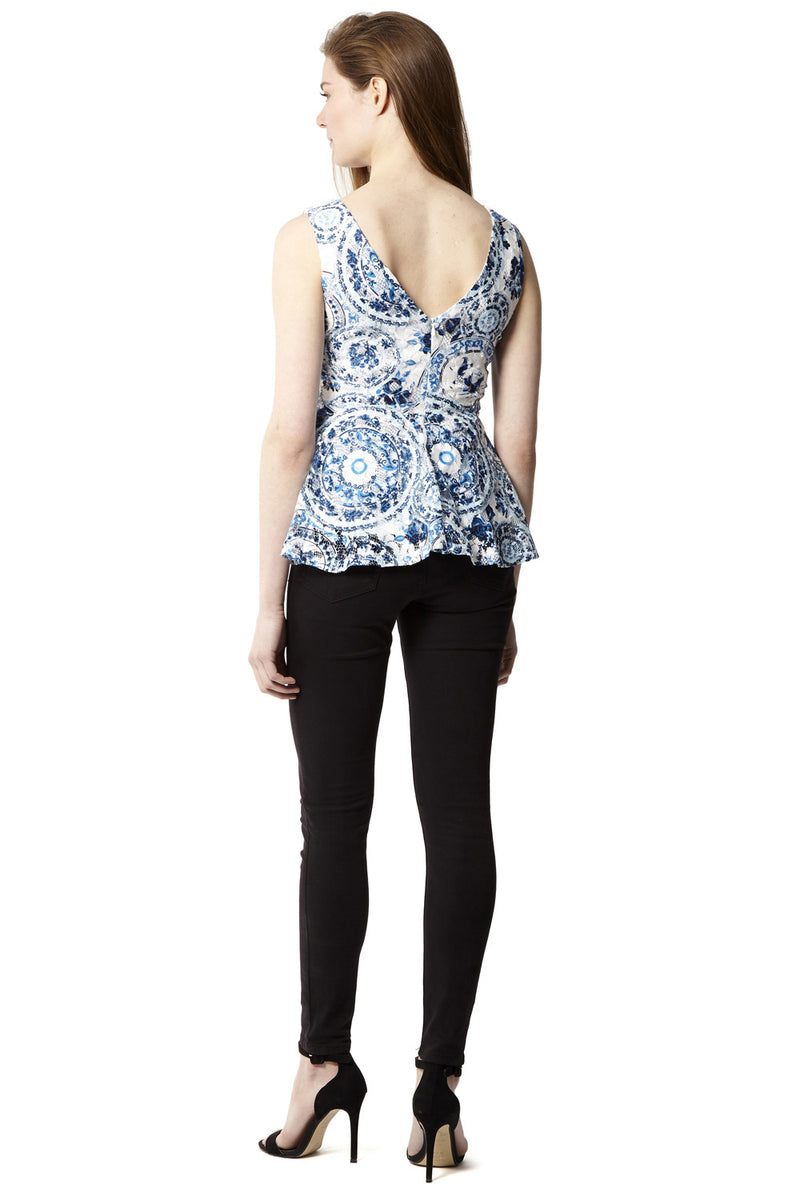 | Baroque Peplum Top | Izabel London