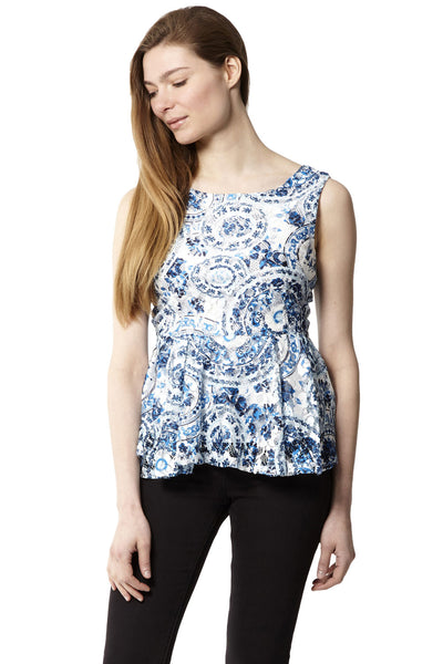3d7e3eb750e3c6 Baroque Peplum Top | Izabel London