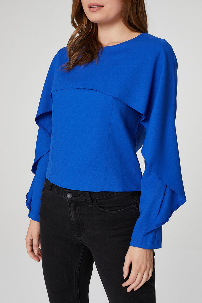 Blue | Cape Feature Top