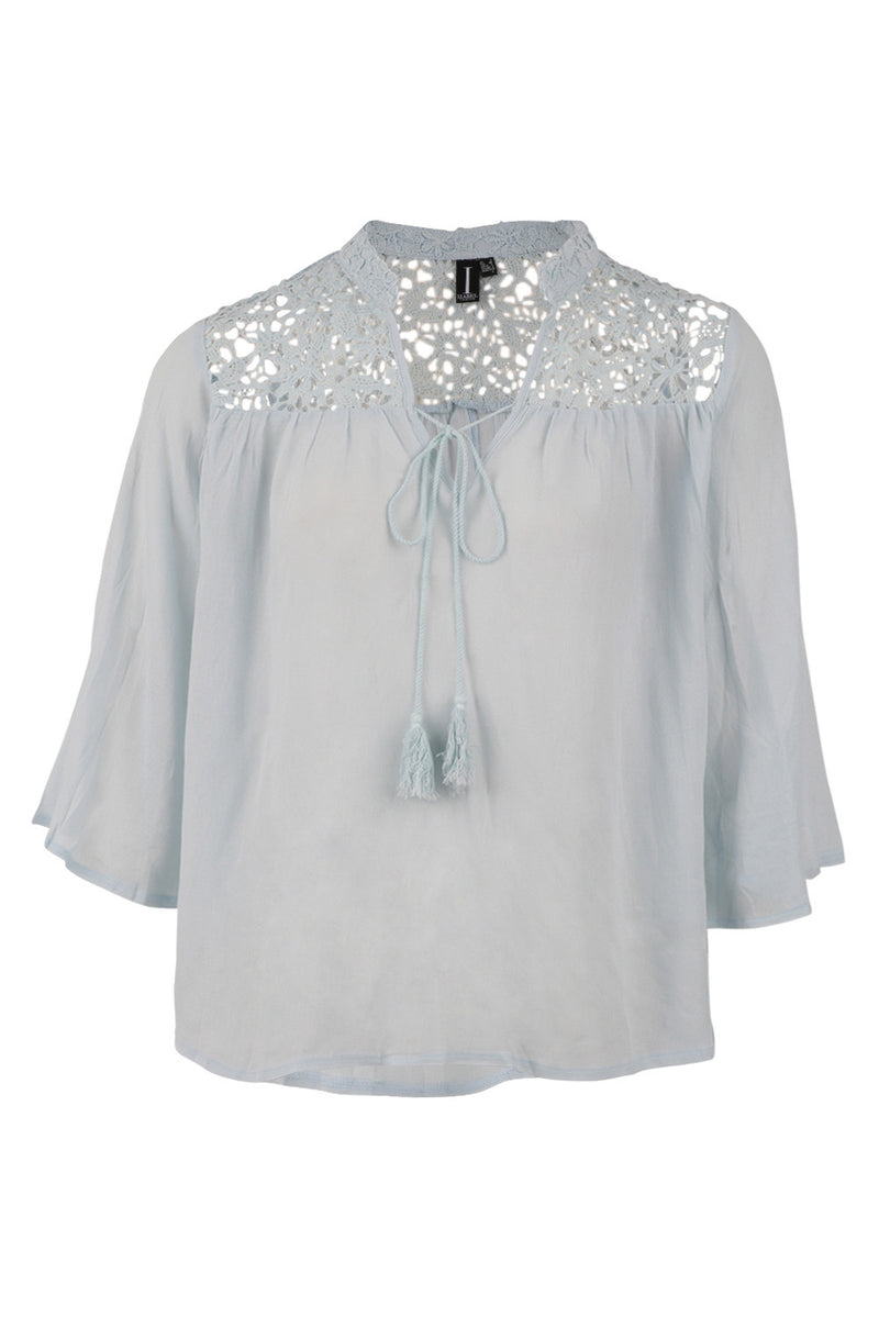 Crochet Top Shirt - Izabel London