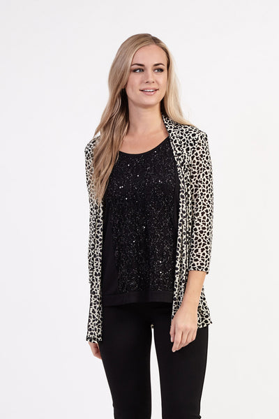 Animal Print Cardigan - Izabel London