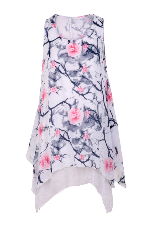 Floral Print Tunic Top - Izabel London