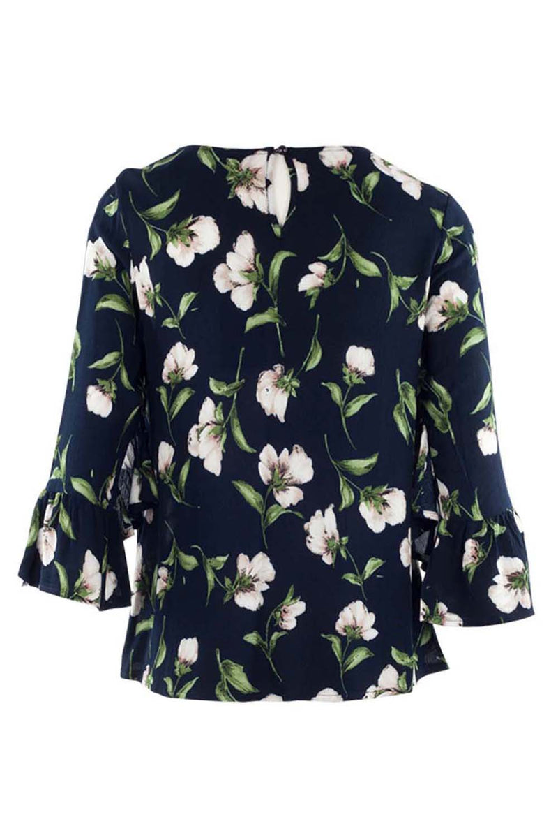 Navy | Floral Shell Top
