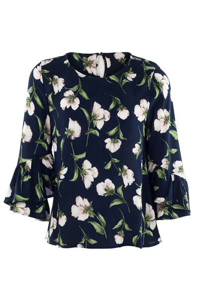 Floral Shell Top - Izabel London