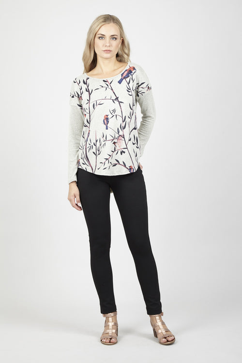 Floral & Bird Top - Izabel London