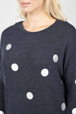 Polka Dot Asymmetric Top - Izabel London