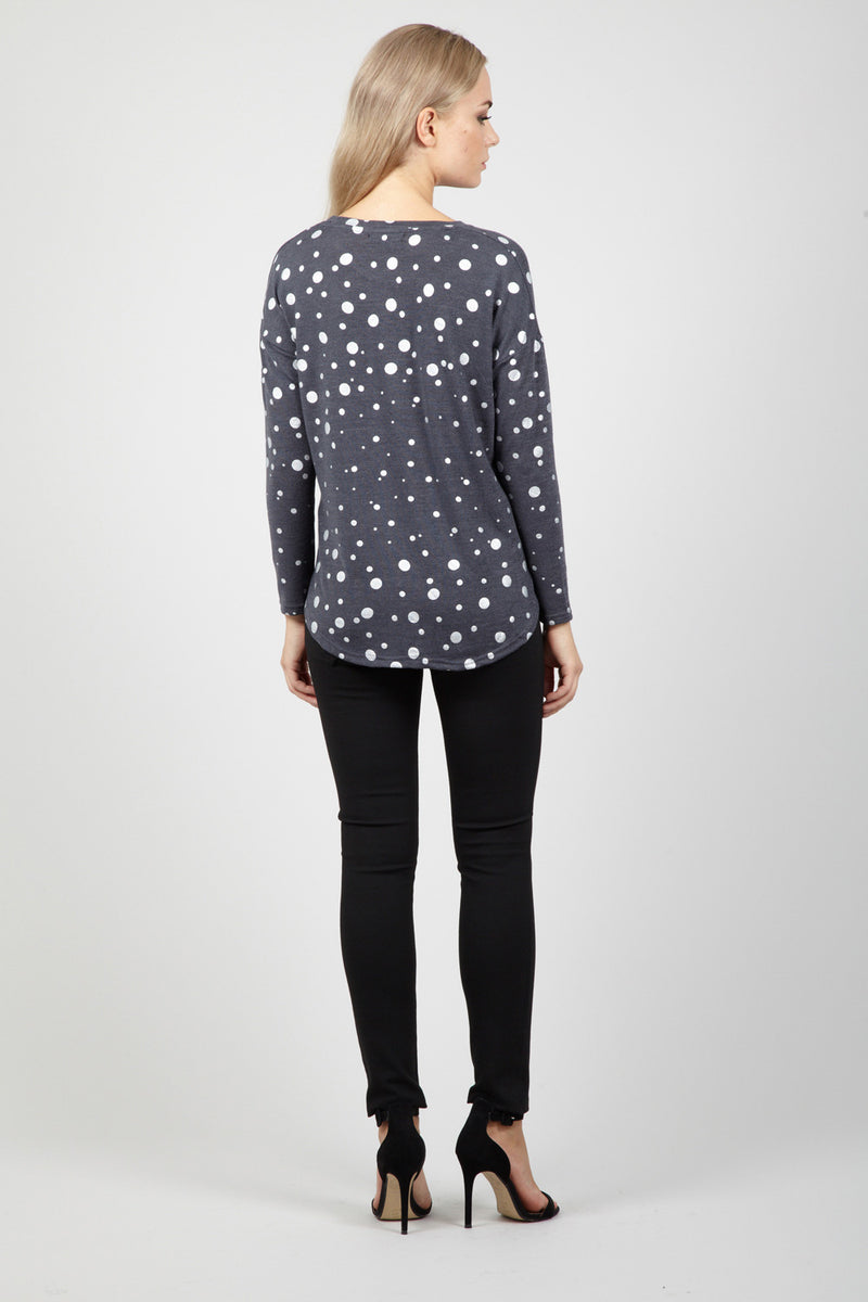 Dotty Knit Top - Izabel London