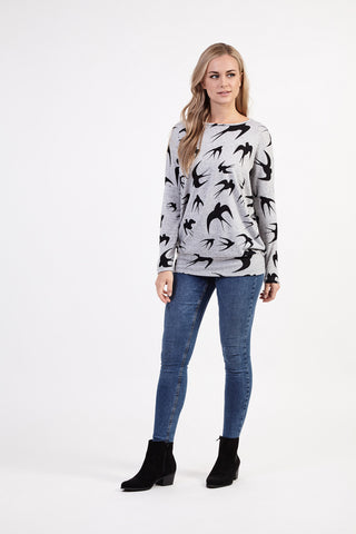 Swallow Ruched Tee
