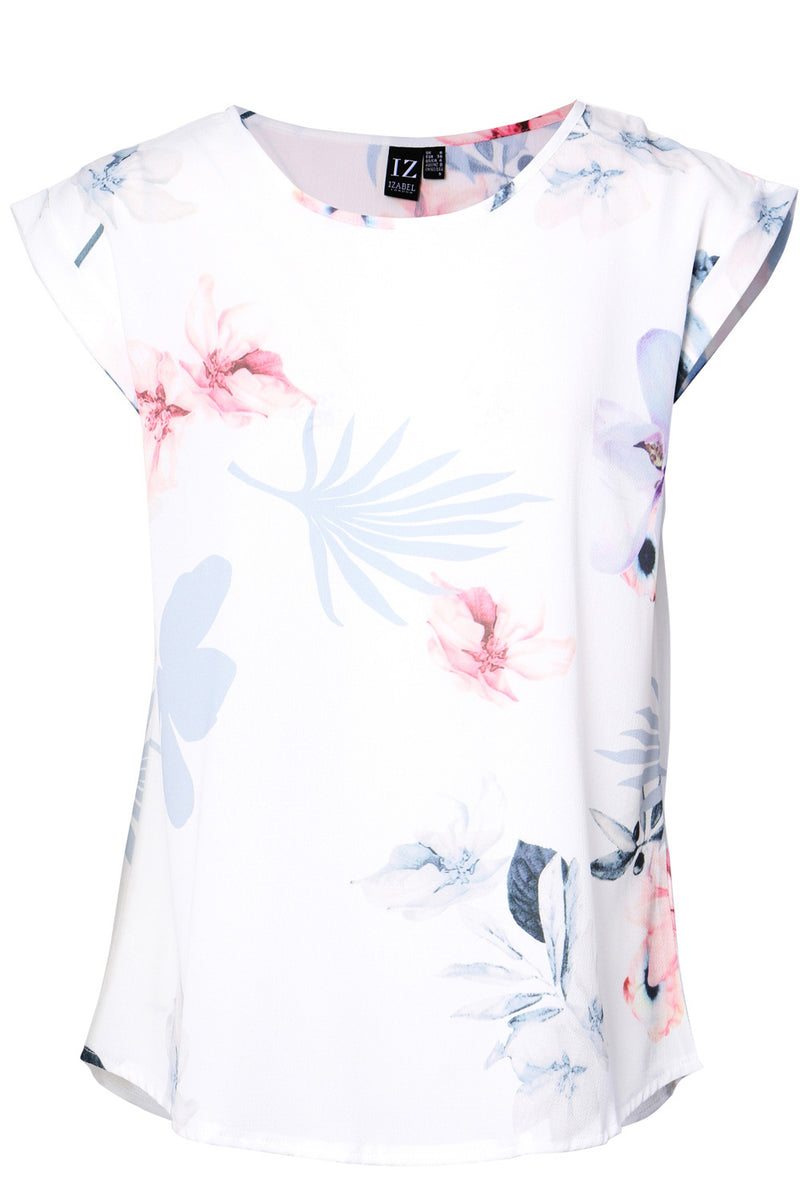 Leaf Print Tee - Izabel London
