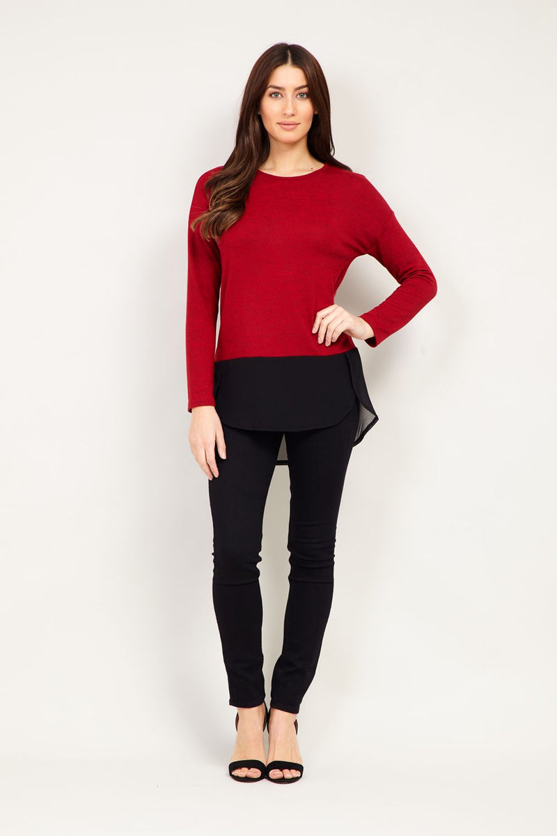 | Layered Knit Top | Izabel London