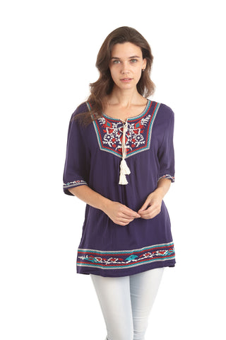 Kaftan Style Embroidered Top