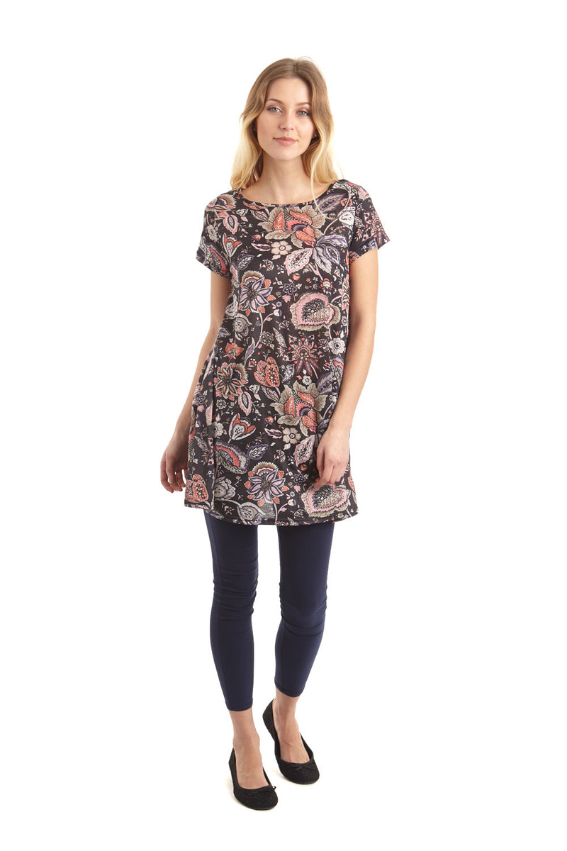 | Bold Florals Tunic | Izabel London