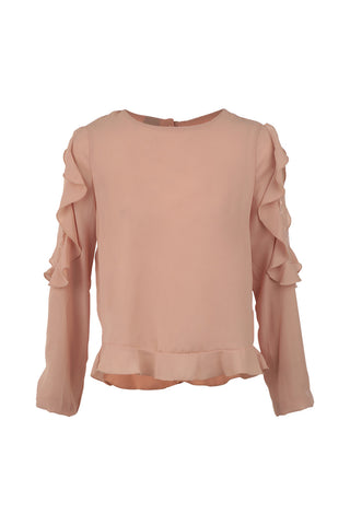 Cold Shoulder Frill Top