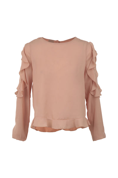Frilled Blouse Top - Izabel London