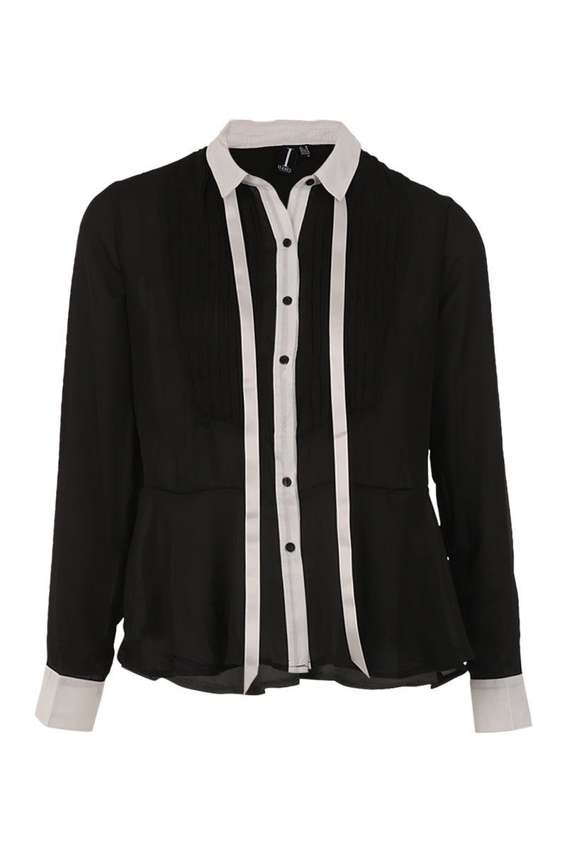 Pussybow Bib Shirt - Izabel London