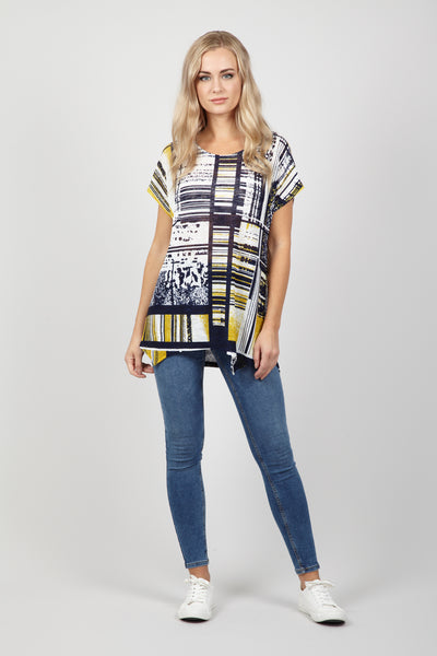 Check Print Batwing Top - Izabel London