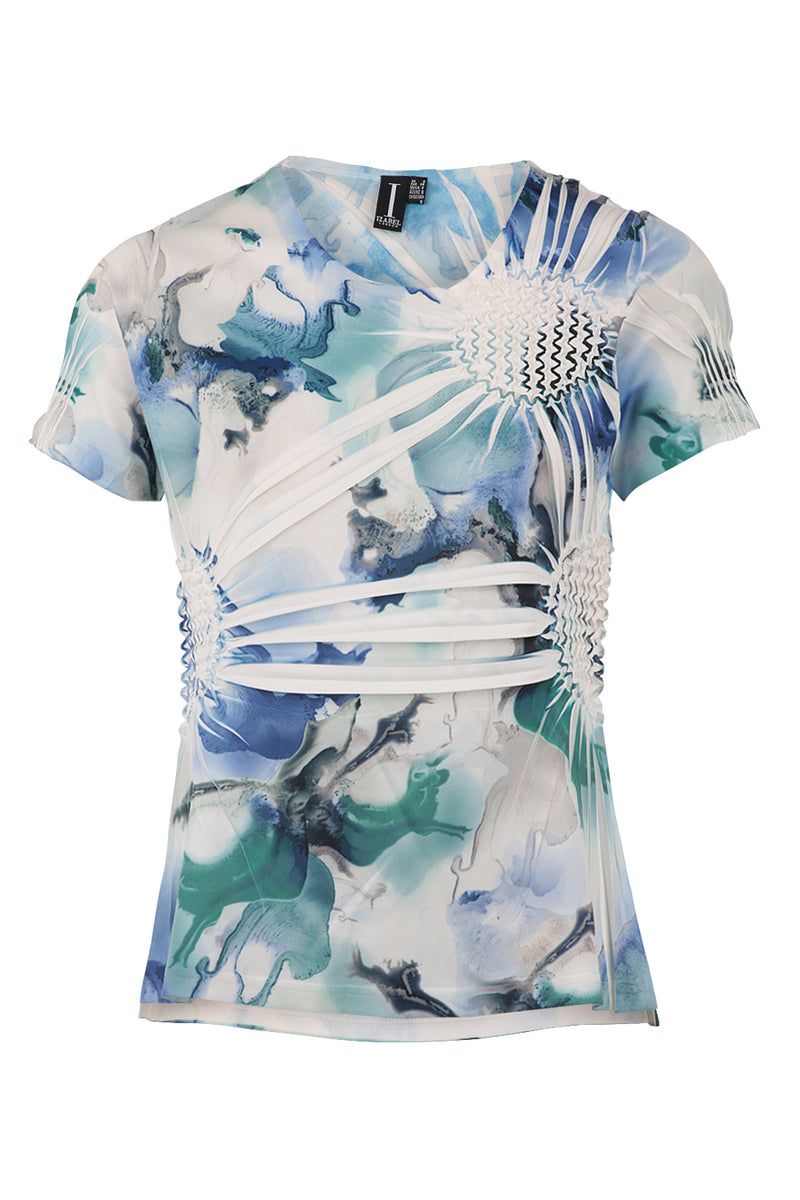 8f49633ec52e4b Blurred Abstract Print Top - Izabel London