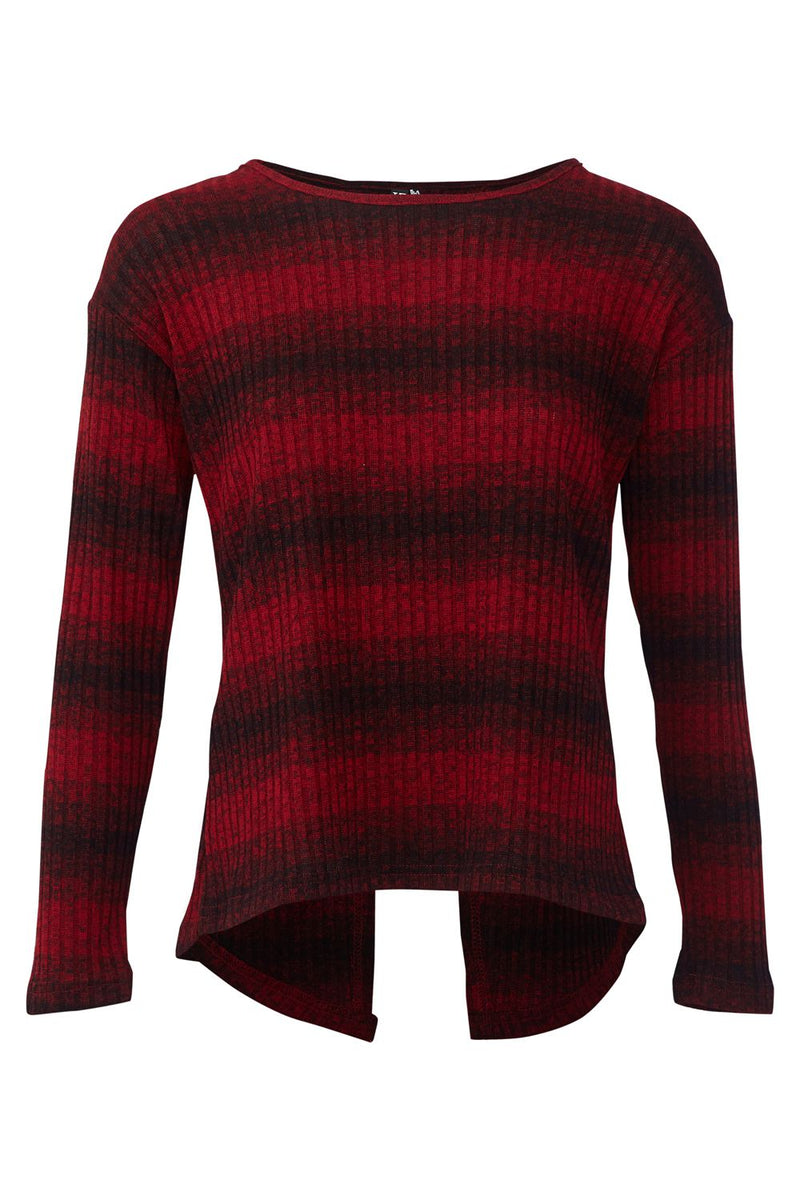 Red | Striped Knit Jumper