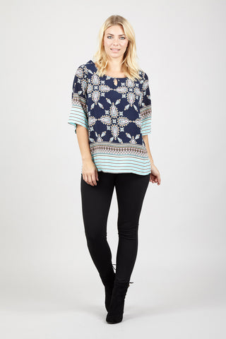 Feather Leaf Chiffon Style Top