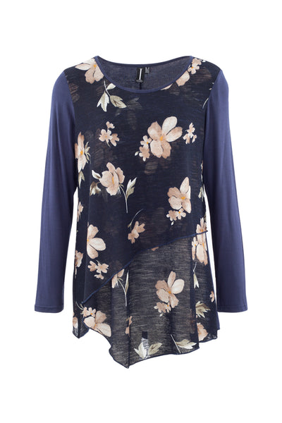 Floral Wrap Tunic Top - Izabel London