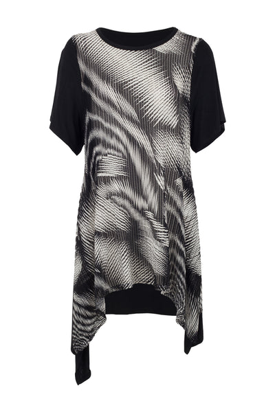 Abstract Hanky Hem Top - Izabel London