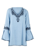 Embroidered Boho Blouse - Izabel London