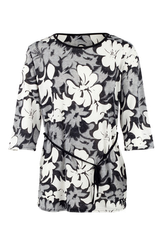 Tropical Hibiscus Print Shift Dress