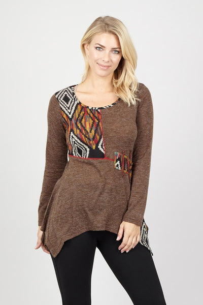 Patchwork Top - Izabel London