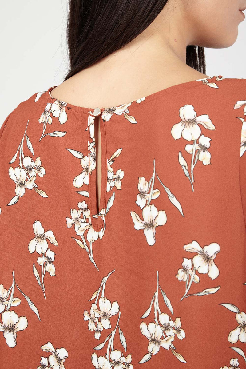 Floral Batwing Top - Izabel London