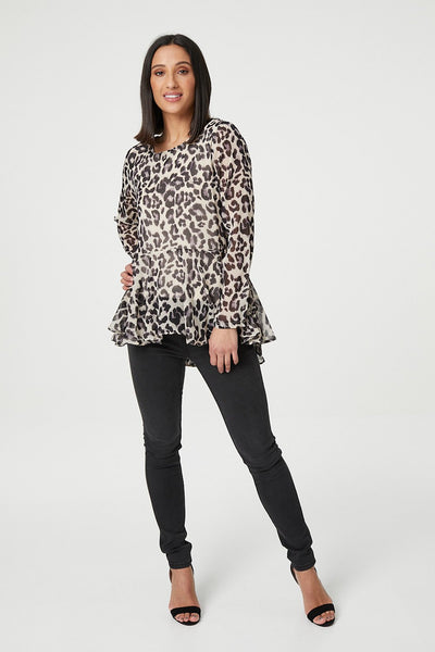 Leopard Print Blouse - Izabel London