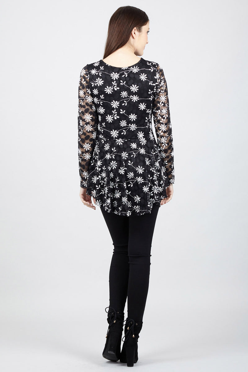 Floral Pephem Top - Izabel London
