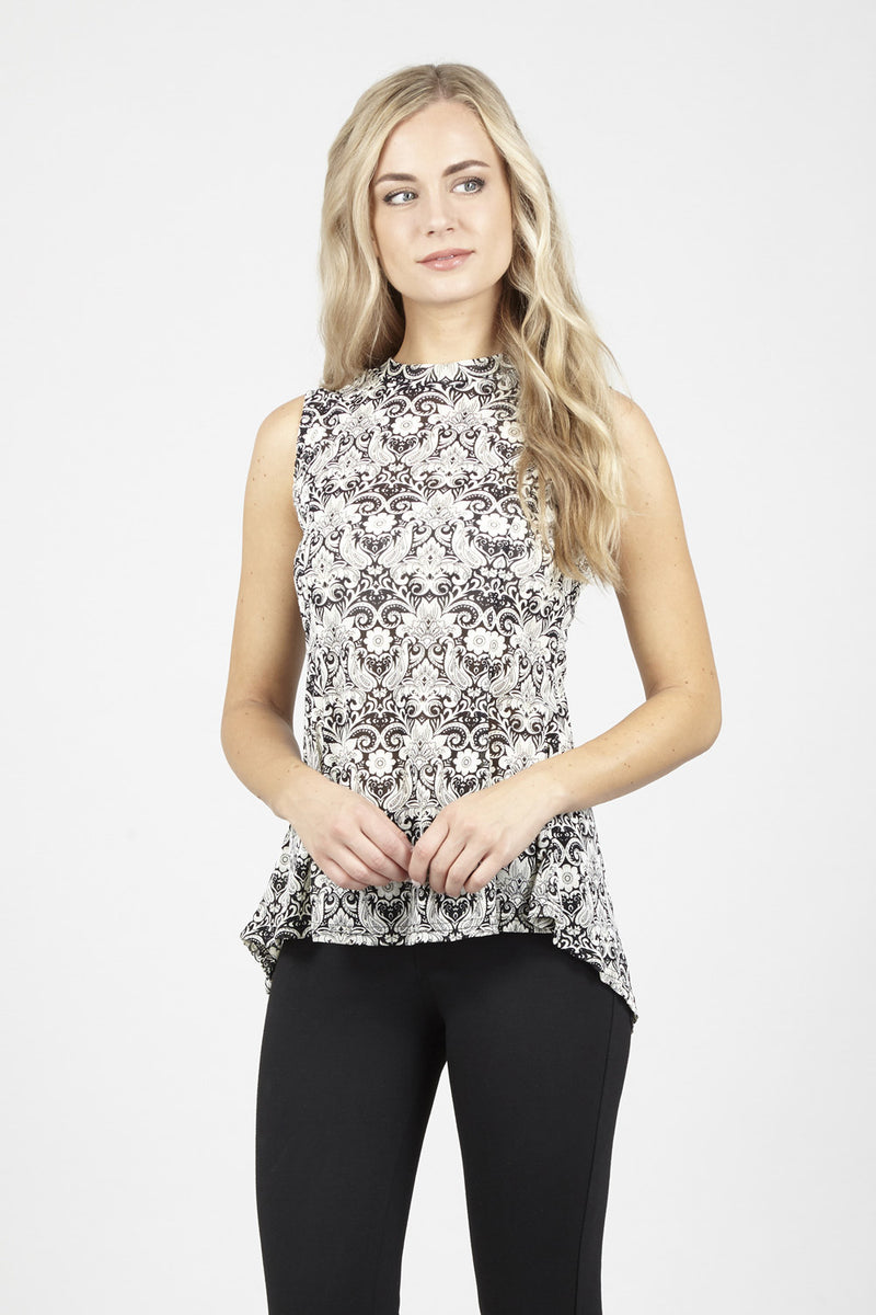 ec1510e06e5d0 Damask Print Top - Izabel London