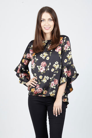 Floral & Stripe Blouse