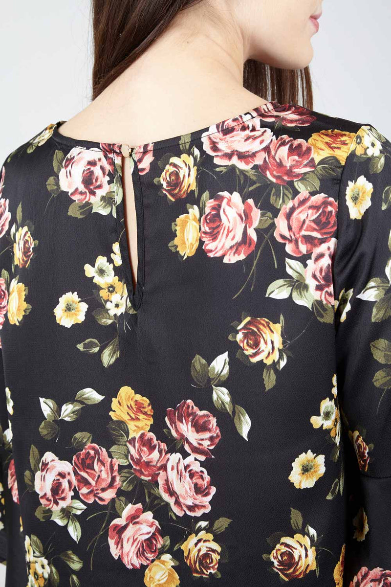 Floral Boxy Blouse - Izabel London