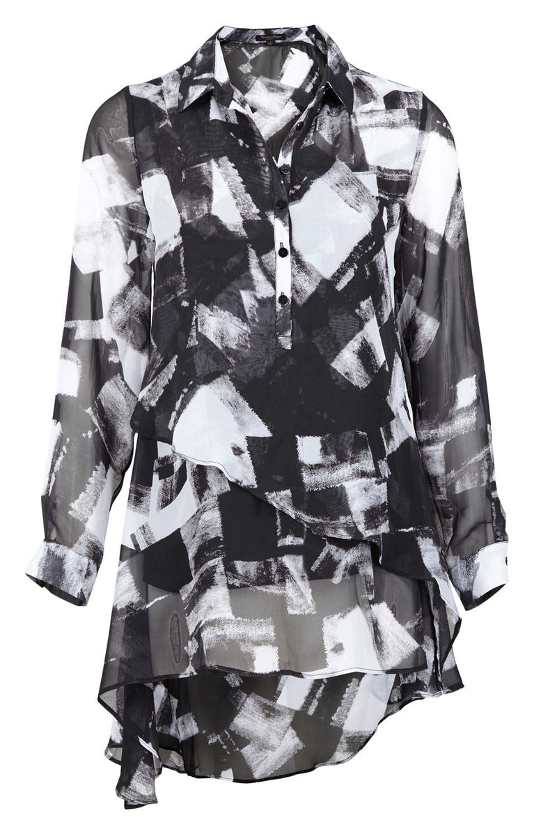 Blurred Check Shirt - Izabel London