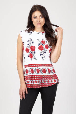 Floral Print Longline Sweater