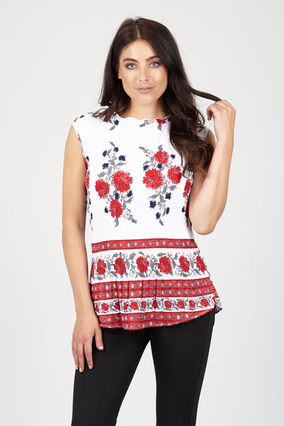 Floral Bloom Peplum Top - Izabel London