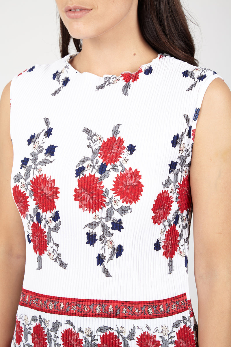 White | Floral Bloom Peplum Top