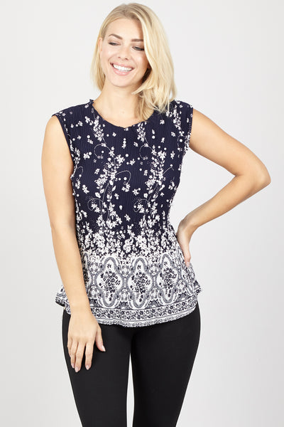 Ditsy Floral Pephem Top - Izabel London