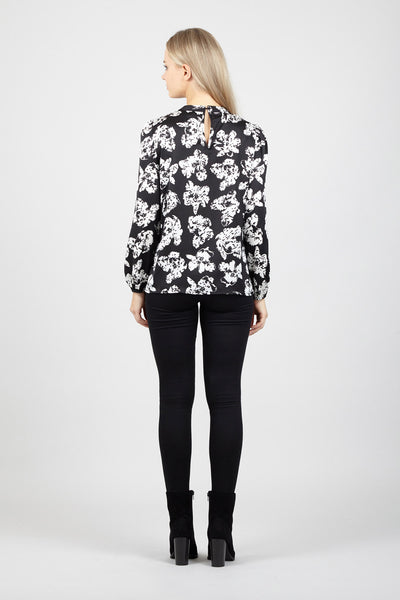 Floral Shell Blouse - Izabel London