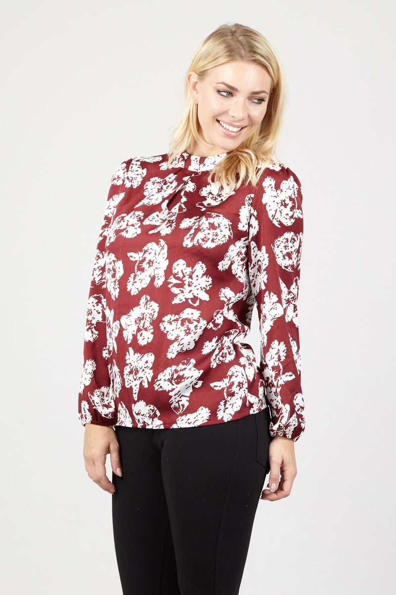 Black | Floral Shell Blouse