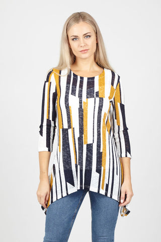 Abstract Striped Top